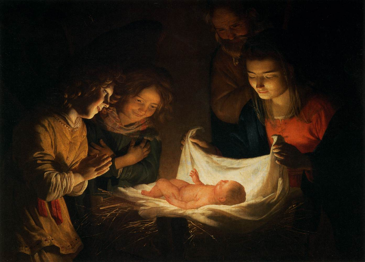 adoration of the child christmas